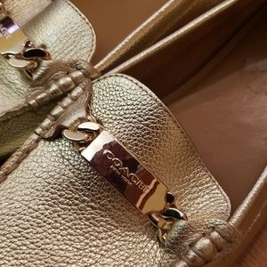 Gold Coach Loafer